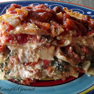 """Kicked Up"" ~ Spinach Lasagna!!!."