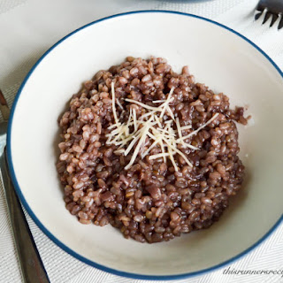 Red Wine Brown Rice Risotto.