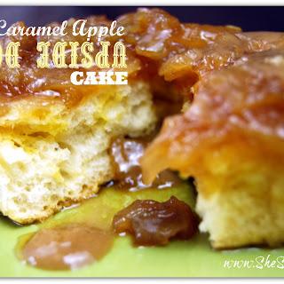 Easy Caramel Apple Upside Down Cake.