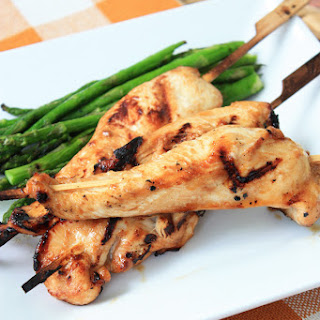 Asian Grilled Chicken Skewers.