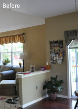 Photo: (Before) Breakfast room half wall