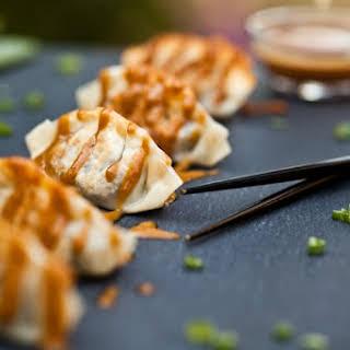 The Best Damn Vegan Dumplings with Easy Peanut Sauce.