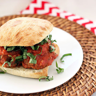 Sausage & Goat Cheese Meatball Sandwiches
