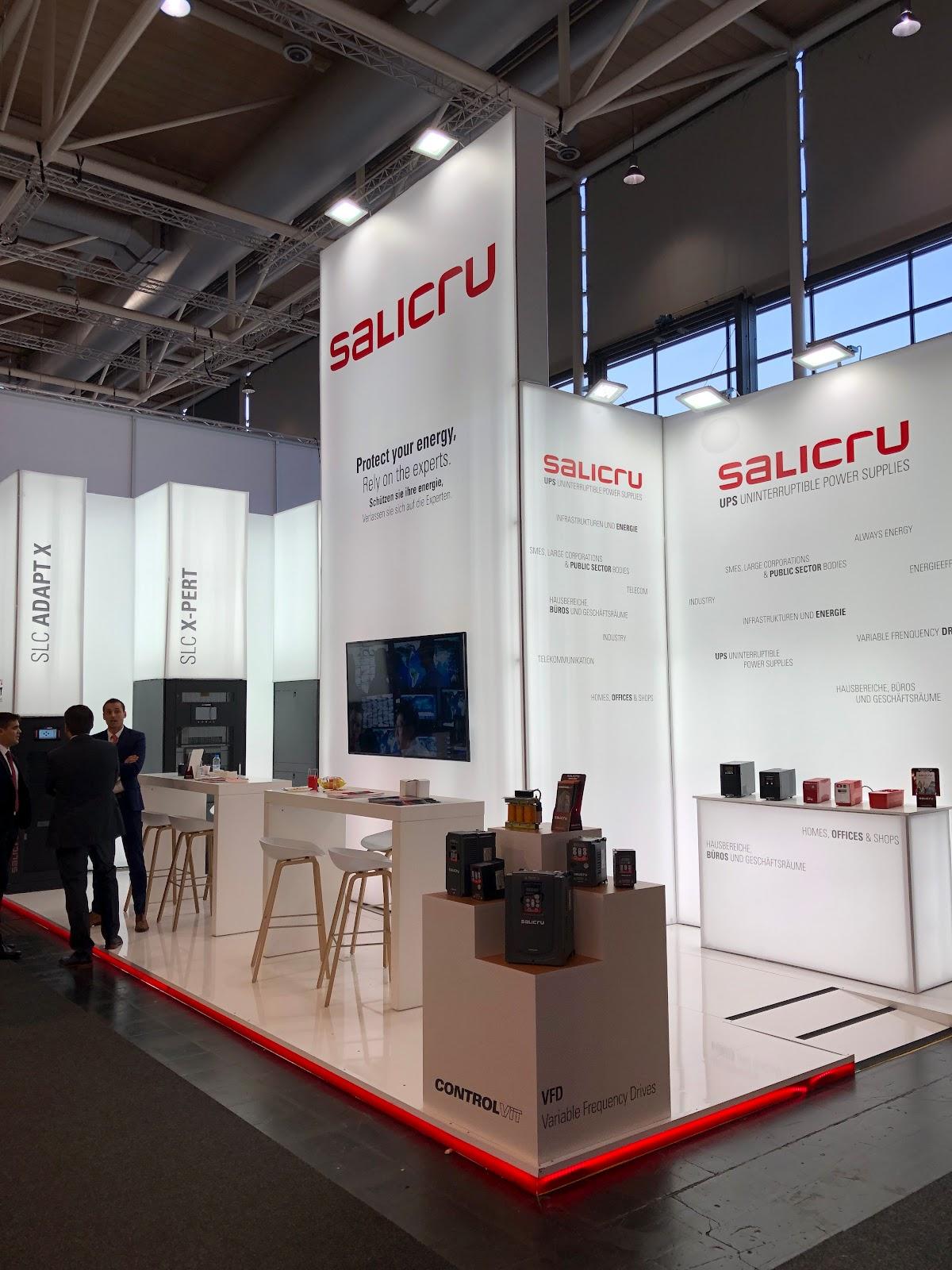 Stand de la empresa Salicru en la Hannover Messe 2019