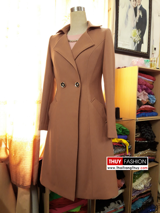 Áo khoác măng tô dạ dáng dài V368 thời trang thủy