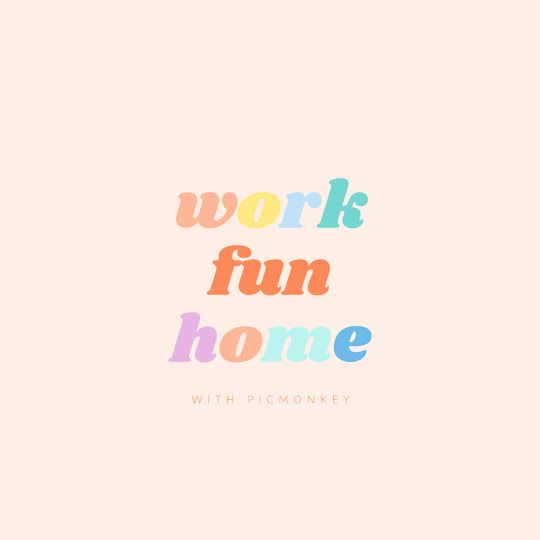Work Fun Home - Instagram Post Template