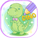 Dinosaurs Glitter Coloring Book With Animation icon