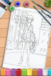 Young Ladies Painting Pages APK screenshot thumbnail 7