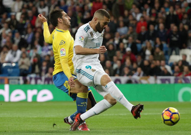 Real Madrid's Karim Benzema in action.