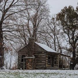 Snowy cabin  by Amanda Burton - Landscapes Weather ( nature, lamdscape, weather )