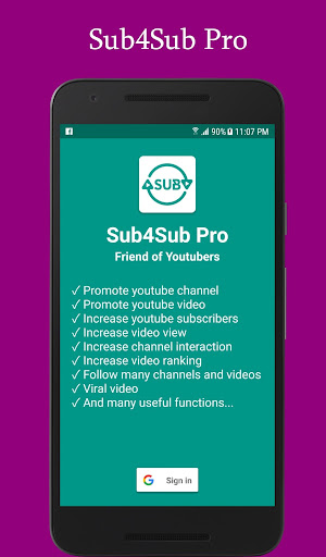 Sub4Sub Pro For Youtube 5.8 screenshots 1