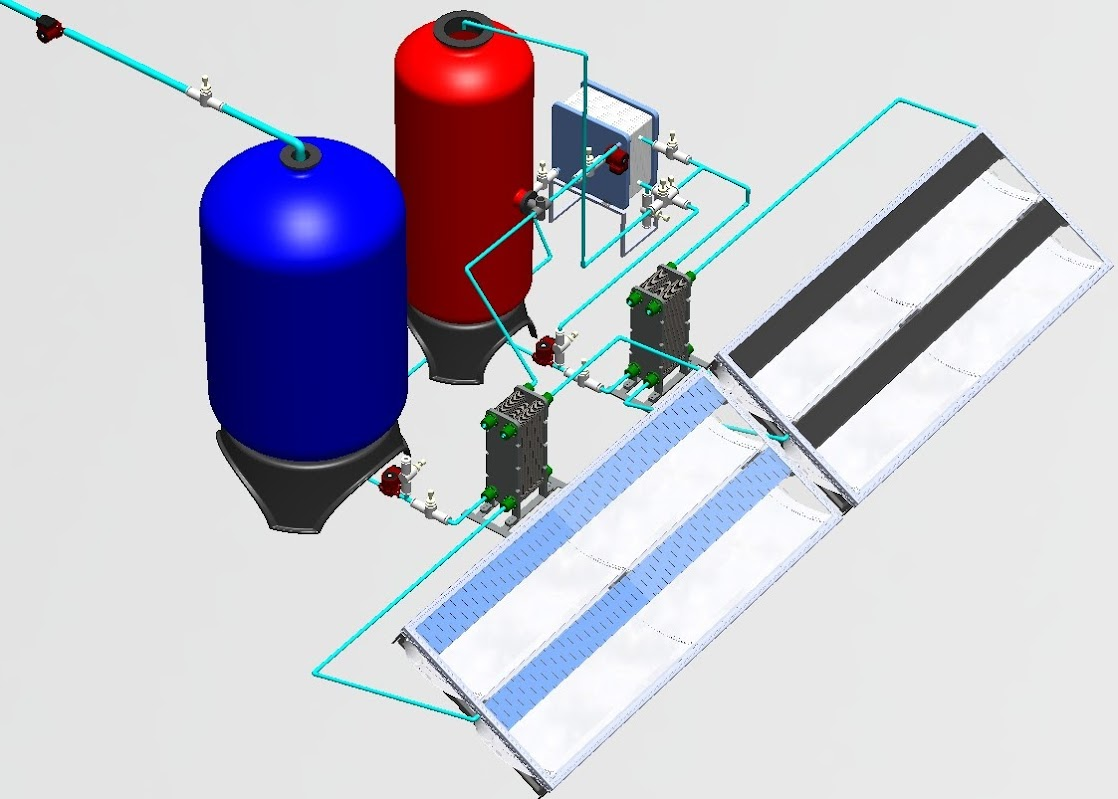 Solar-Driven Membrane Desalination Plant