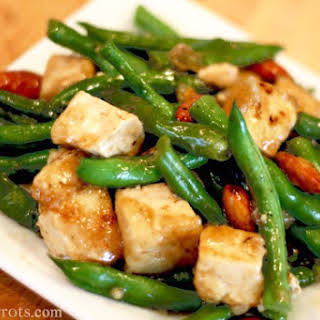 Chinese Green Beans, Tofu & Almonds.