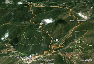 Photo: Plano de la ruta.