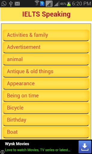 English Exam Speaking Topics  screenshots 1