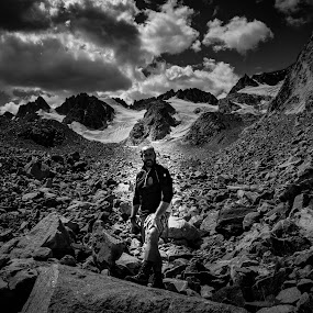 On the Mountain by Chase Maurine - People Portraits of Men