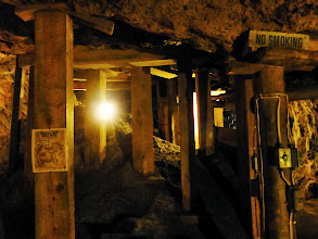 Photo: The mine wasn't dug by machines, but the old-fashioned way, with pickaxes, drills, and explosives