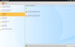 Screenshot of Office: Presentations Mobile