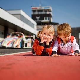 The Race Children by Jiri Cetkovsky - Babies & Children Child Portraits ( most, circuit, race, children, box )