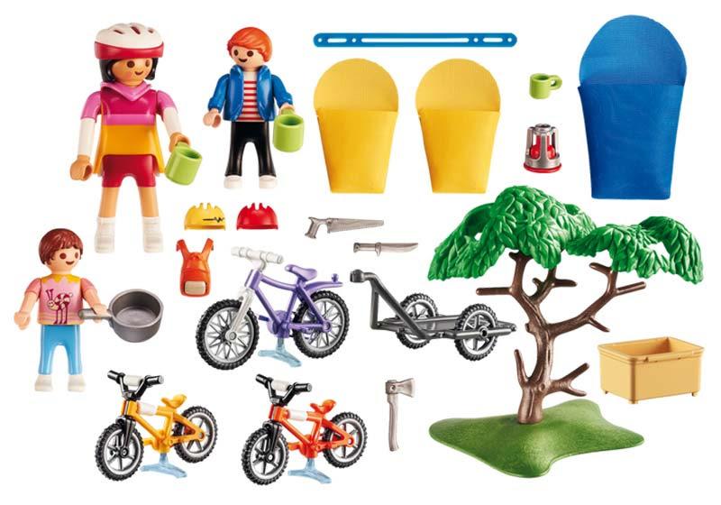 Contenido real de Playmobil® 6890 Familia con Bicicletas