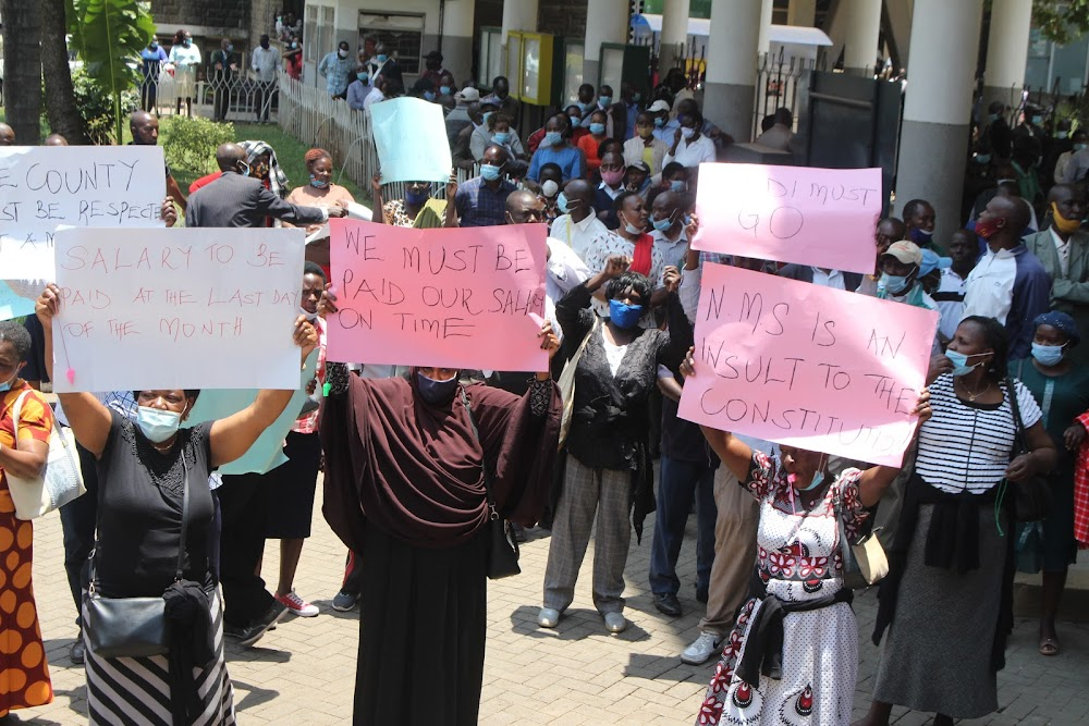 Operations paralysed after Nairobi County staff strike over delayed payments