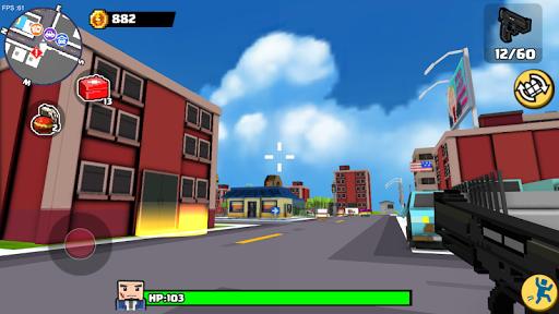 Blocky Gangstar: Pixel Shooter & Mafia City  captures d'écran 2