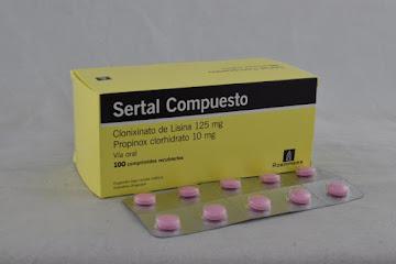Solo Online Sertal Compuesto Comp   125-10mg Tab/Comp x 100 Und