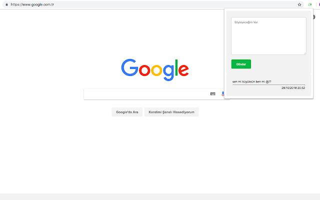 Google Chrome Yorum Yap Eklentisi