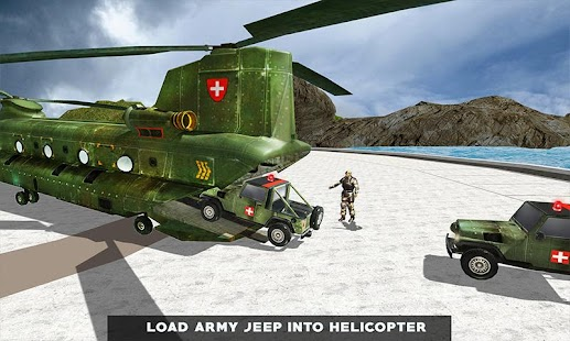 US Army Helicopter Rescue: Ambulance Driving Games Screenshot