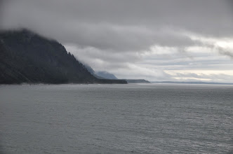 Photo: Approaching the Hubbard Glacier