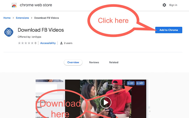 Download Videos Using Chrome Extension Step 1