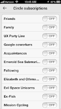 Photo: Tap to subscribe to the circles you're interested in...