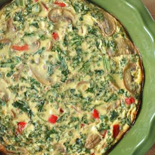 Crustless Vegetable Quiche.