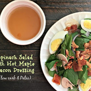 Spinach Salad with Hot Maple Bacon Dressing (low carb & Paleo)