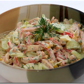 Ham, Mushroom And Cucumber Salad