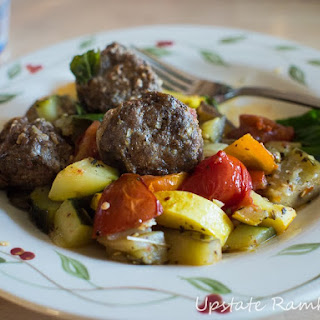 Meatball Casserole with Summer Vegetables