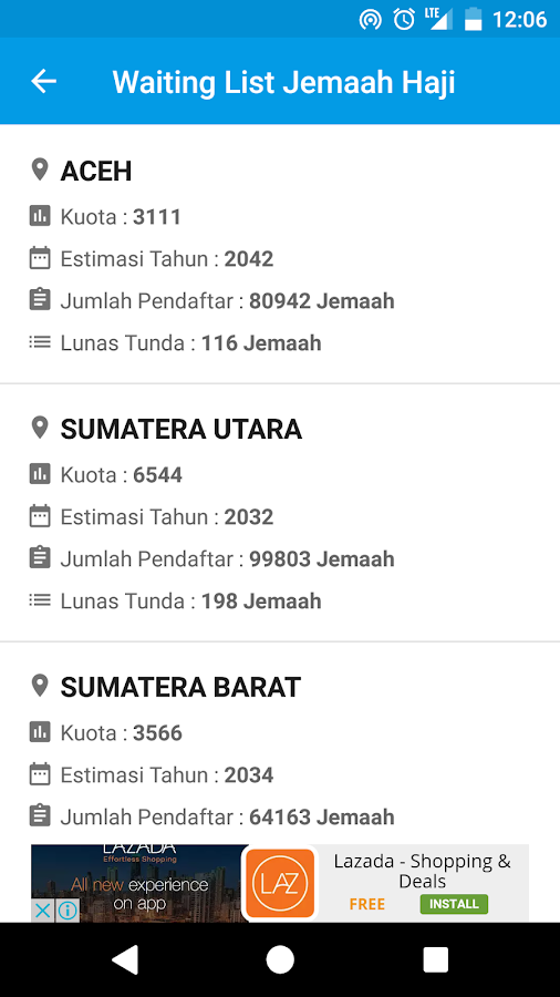 Cek Porsi Haji- screenshot