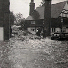 Photo: Mill Cottage, Mill Lane Wateringbury. Durning the floods of 1968