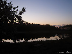 Photo: 4:30 am in Kamislov; the pond behind the research station