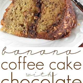 Banana Coffee Cake with Chocolate Pecan Streusel.