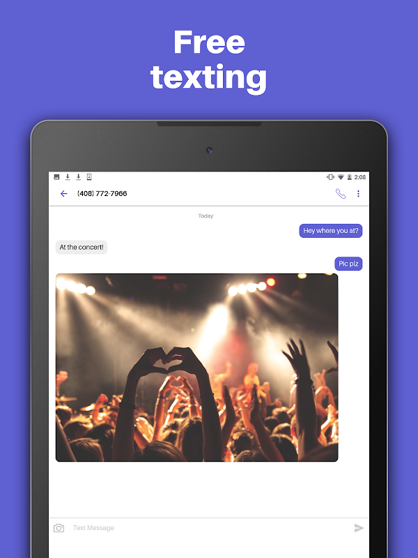 Text Free: Free Text + Call + Second Phone Number screenshots