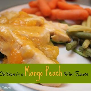 Chicken in a Mango Peach Pan Sauce