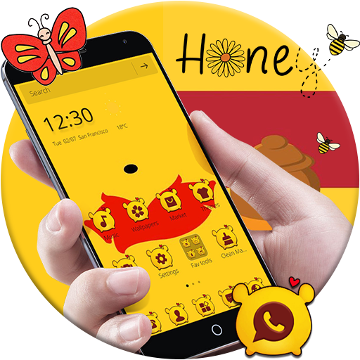 Cute Yellow Bear Theme for Pooh file APK Free for PC, smart TV Download