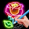 learn.to.draw.glow.flower