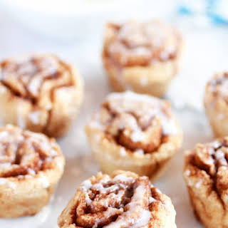 Whole Wheat 30 Minute Mini Cinnamon Buns (healthy).