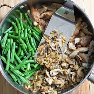 Green Bean and Mushroom Chicken Skillet.
