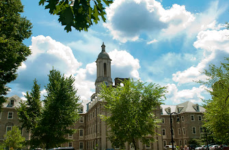 Photo: Old Main on a beautiful late-spring morning.