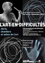 Photo: © Olivier Perrot Affiche 40x60 rencontres l'art en difficultés 2004 4 photogrammes