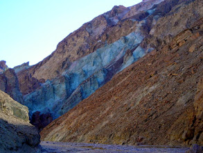 Photo: Colorful rock layers in Gower Gulch