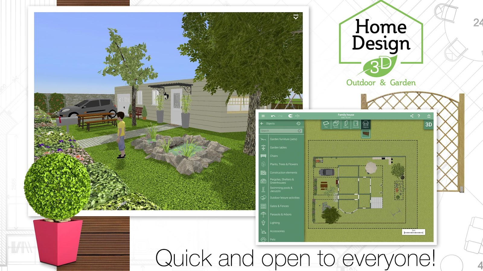 Garden Home Designs Home Design 3D Outdoorgarden  Android Apps On Google Play